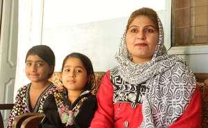 Khursheeda with her 2 girls