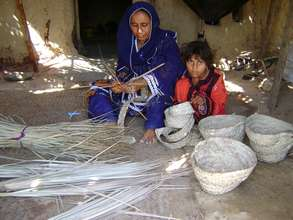 Weaving Baskets for income generation