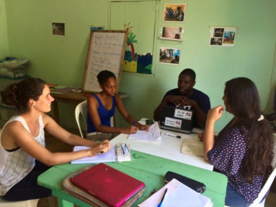 Yspaniola staff and volunteers in Creole class.