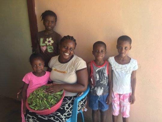 Lumene and her four children