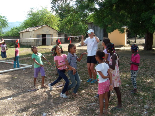 """Campers play limbo in """"Sports"""""""
