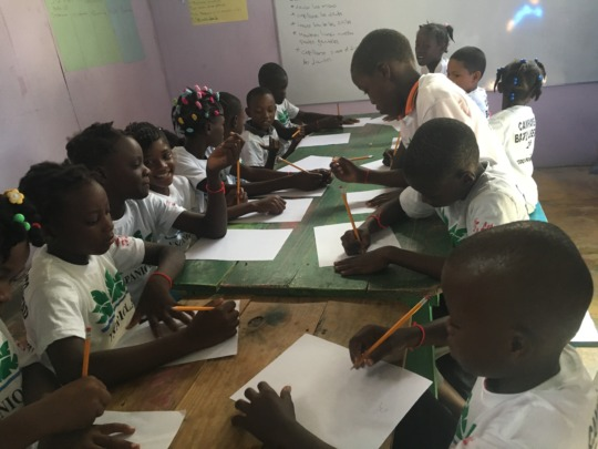 Students in Health Class, Summer Camp 2016