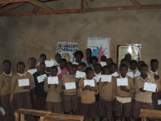 Children Graduating from Mentorship Class