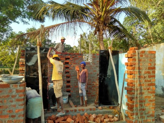 Construction work at Mandya School
