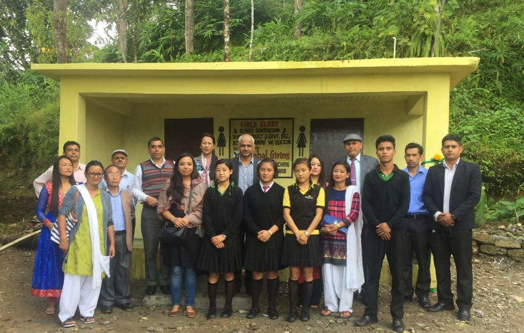 New Toilets at Sikkim supported by Global Giving