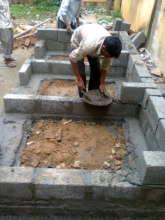 Toilet blocks under construction