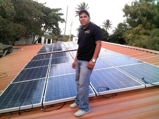 Our local solar technician, Erickson!