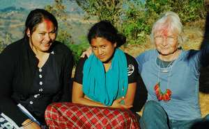 Bindu, Alisha and I in Tanglichowk in March 2015