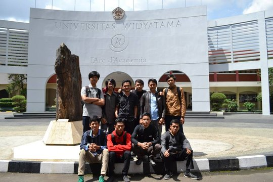 In front of University of Widyatama