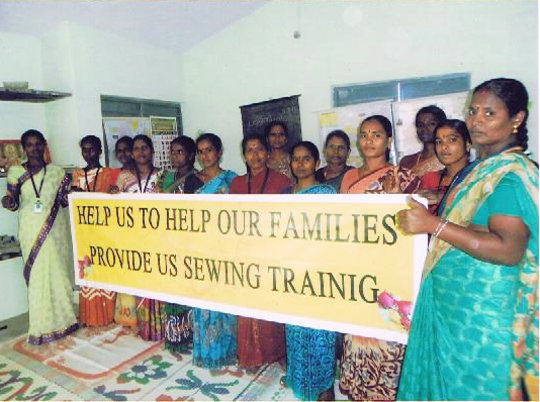 Support 60 poor women sewing for secure living