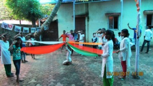 A Dance With Colours of National Flag