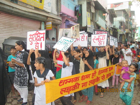 Girls demand safe and clean toilets