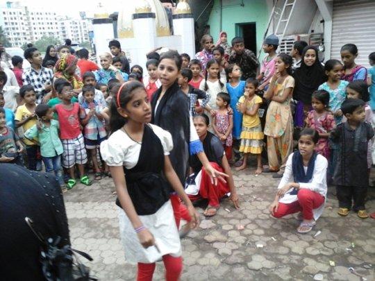 Sabiya performing in street play