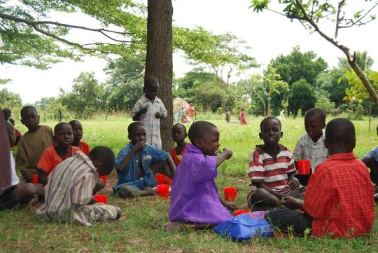 Porridge for 115 children in Zimbabwe