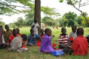 Porridge for 115 children in Zimbabwe