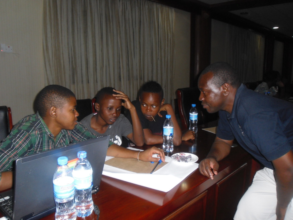 A group discussion during one of the training
