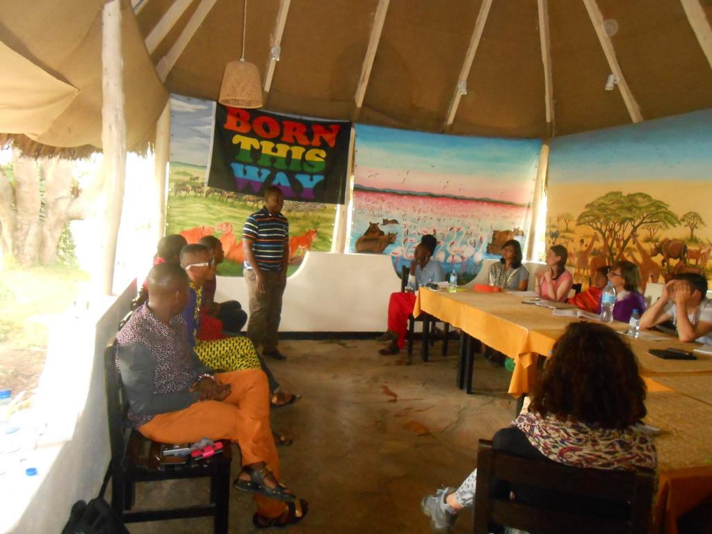 James Wandera presenting in a workshop