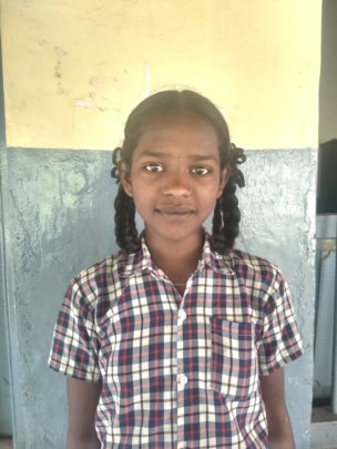 Ananya happy in school