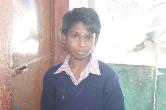 Arvind,a student of the school.