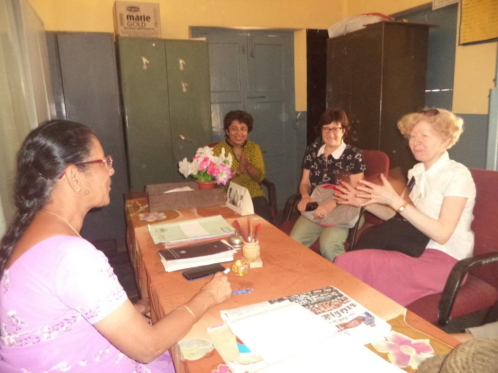 Nadia Haton with the Headmistress of the school