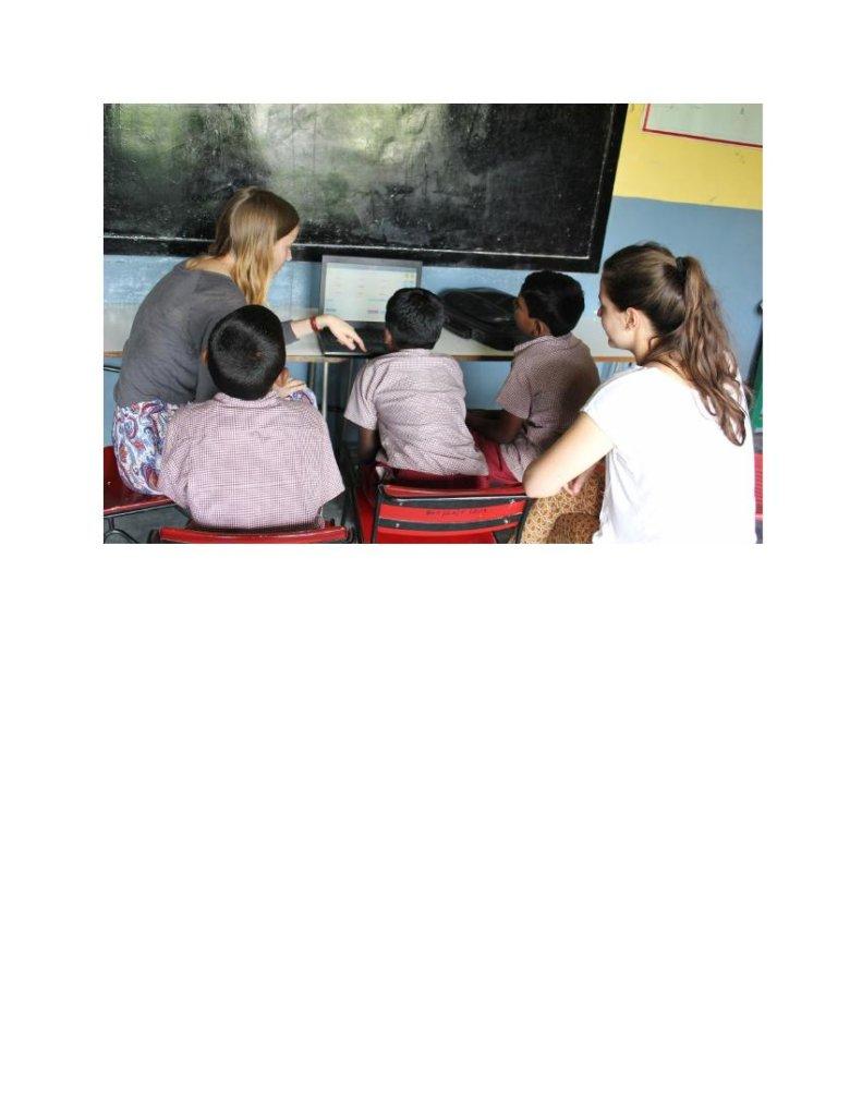 French girls Volunteering in school