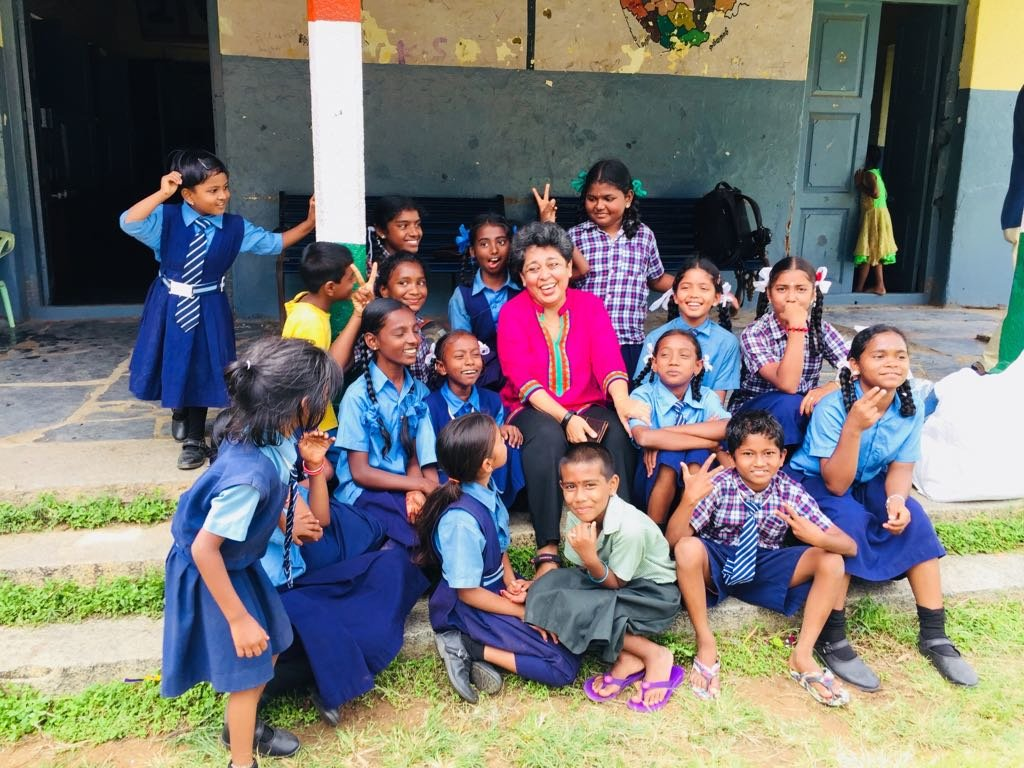 Happy children in school