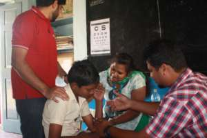 Health camp for the children