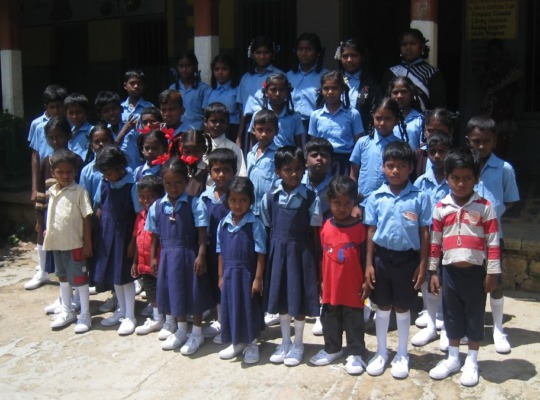 Children in their new sports shoes
