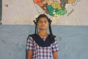 Sandhya at school