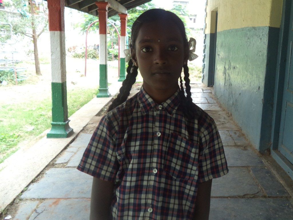 Sneha at  the school