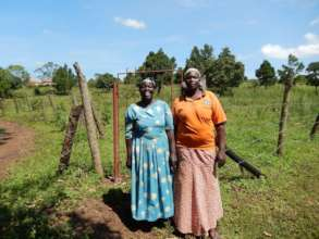 Two of our Jinja women at the property last week.