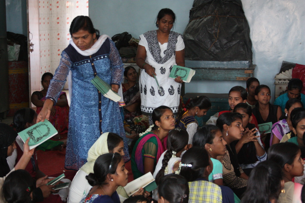 Anemia book distribution to adolescent girls
