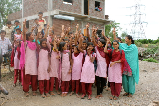 Girls after completing Life Skills Education Class