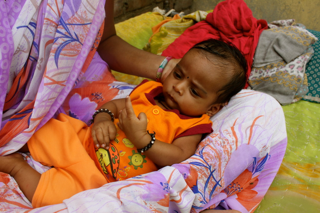 Married Adolescent Girl with her new born