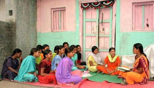 Unmarried adolescent girls undergoing life skills