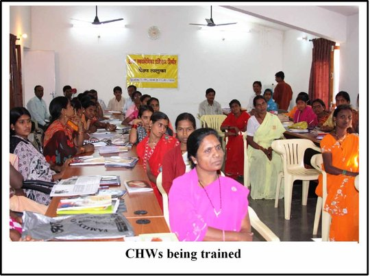 CHWs being trained