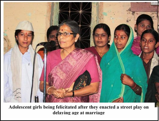 A street play enacted by adolescent girls