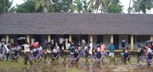 Bikes for girls arrived at school with the monsoon!