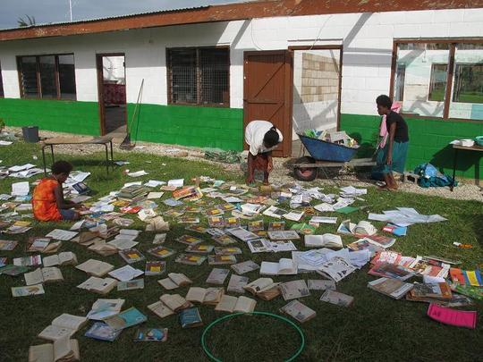ACTIV Association rebuilding the Panganisu library