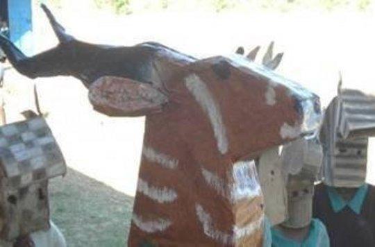 Close up of Kudu mask