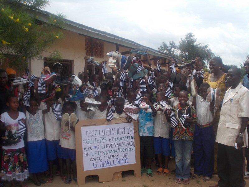 Distribution at Luberizi - soon also at Rwenena!