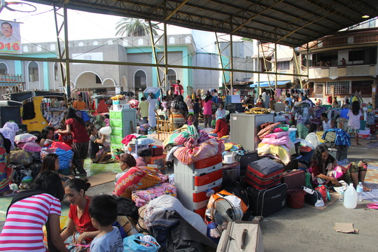 Fire Victims in Evacuation Center