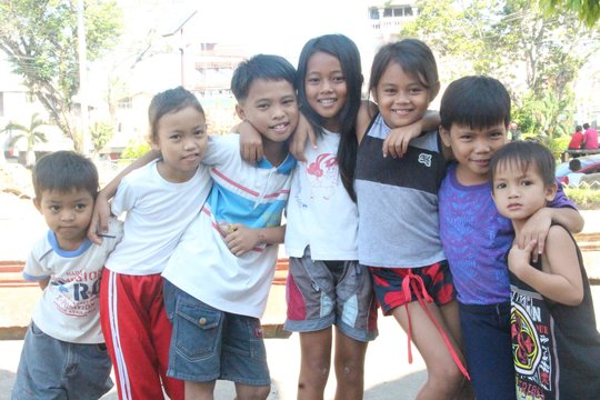 Happy kids, not anymore in evacuation center
