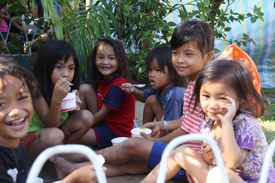 Every meal is a joy to kids in the community