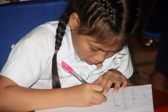 Sinat writes her exams to enter public school