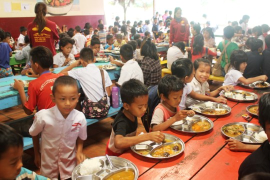 Lunchtime at M'Lop Tapang's Education Center