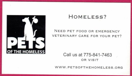 Give this to a homeless person with a pet