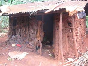Typical shelter for grannies in rural Uganda