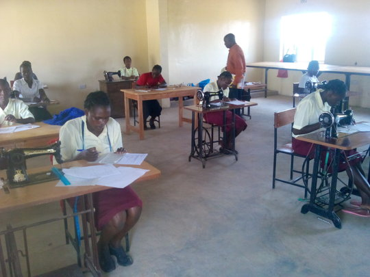 our tailoring students on their test