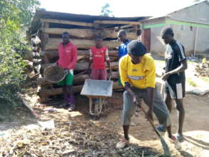 students  helping with chores at the institution